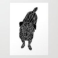 jack russell Art Prints featuring Jack Russell by Gemma Bullen Design