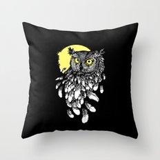 OWL MOON Throw Pillow
