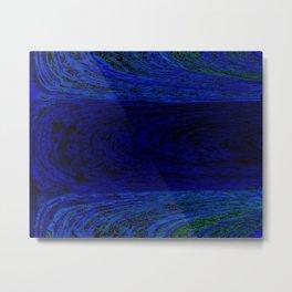 Blue Archways Metal Print