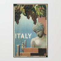italy Canvas Prints featuring ITALY by Kathead Tarot/David Rivera