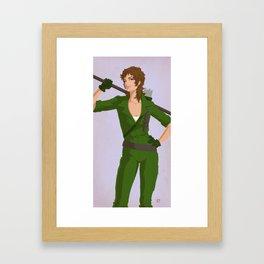 Retro Lady Jaye Framed Art Print