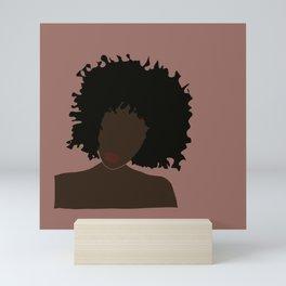 Beauty of black woman Mini Art Print
