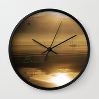 breathe Wall Clocks featuring Breathe by DebS Digs Photo Art