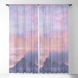 Rose Serenity Sunrise III Sheer Curtain