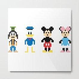 The Pixel Gang Metal Print