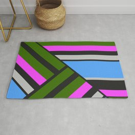 Striped triangles 5 Rug