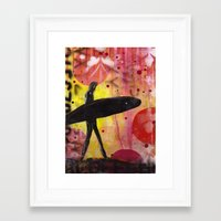 surfer Framed Art Prints featuring Surfer by Sophia Buddenhagen