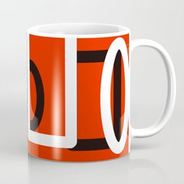 Red, Black and White Abstract Coffee Mug