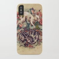 bunny iPhone & iPod Cases featuring Dust Bunny by Kate O'Hara