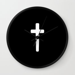Cross - White Wall Clock