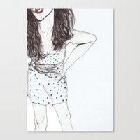 polka dots Canvas Prints featuring Polka Dots by Kirsten McNee