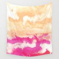 gradient Wall Tapestries featuring Pastel Gradient by Jenna Davis Designs