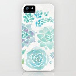 Watercolor Succulent Garden 3 iPhone Case