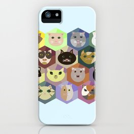 Set of different cats iPhone Case