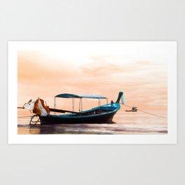 Long Boat Art Print