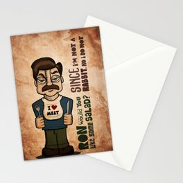 Ron Swanson 2 Stationery Cards