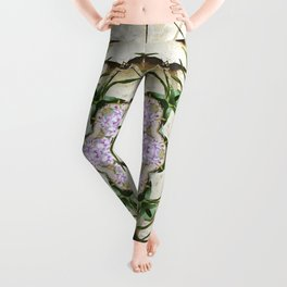 Orchids And Stone Wall Kaleidoscope 1764 Leggings