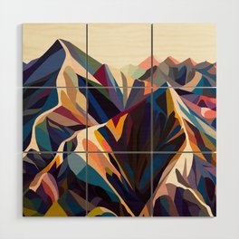 Mountains original Wood Wall Art