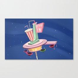 Retro Diner Canvas Print
