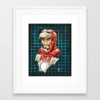 ironman Framed Art Prints featuring Ironman by Fernando Cano Zapata