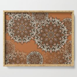 Baals - Flowing mandalas B of Alphabet collection Serving Tray