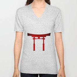Japanese Tori Gate Unisex V-Neck
