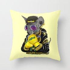 Boxing Cat 3 Throw Pillow
