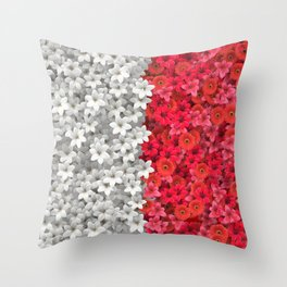 Boundary Flowers Throw Pillow