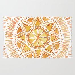 SUN BEAMS Mandala Rug