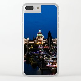 Victoria at night - christmas lights Clear iPhone Case