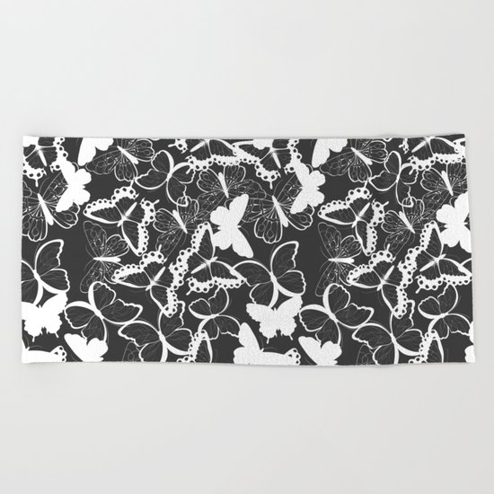 Butterfly pattern 011 Beach Towel