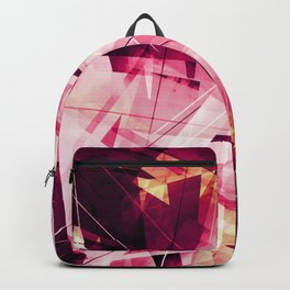 Ruckus in Red - Geometric Abstract Art Backpack