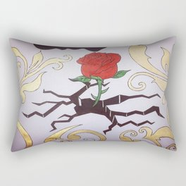 THE ROSE THAT GREW FROM CONCRETE Rectangular Pillow