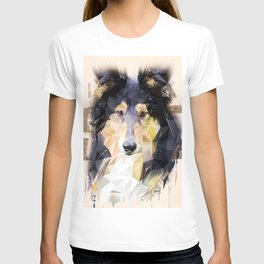Rough Collie (Low Poly) T-shirt