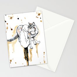 The Girl And The Wolf Stationery Cards