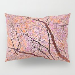Interconnected Paths (coral-orange-persimmon) Pillow Sham