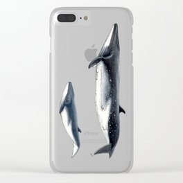 Bryde´s whale and baby whale Clear iPhone Case