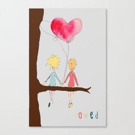 Art for kids, Friendship Art Canvas Print
