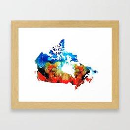 Canada - Canadian Map By Sharon Cummings Framed Art Print