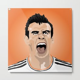 Gareth Bale Illustration Metal Print