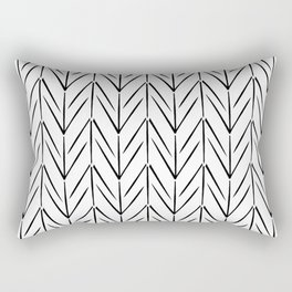 Simple chicken footprint lines pattern white and black Rectangular Pillow