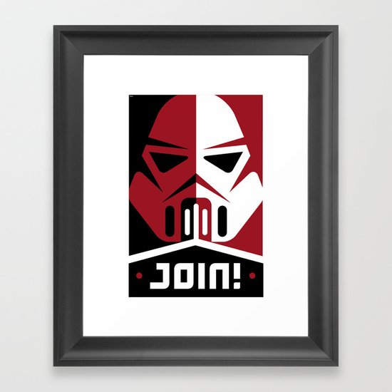 Join the Troops Framed Art Print