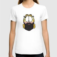 garfield T-shirts featuring Garfield Cat Beard by Stuff Your Eyes