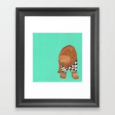 A bear in a sweater Framed Art Print