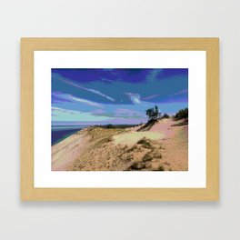 Michigan Sand and Dunes Framed Art Print