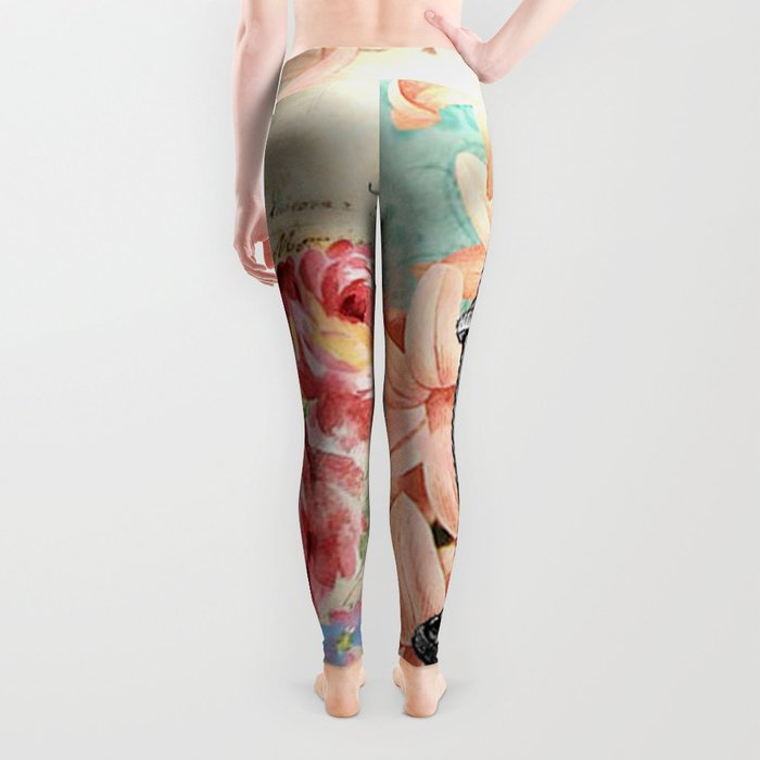 Vintage Flowers #19 Leggings