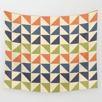 60s Wall Tapestries featuring Geometric Pattern // 60s by Jennifer Robert