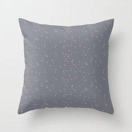 Gray Light Pink Shambolic Bubbles Throw Pillow