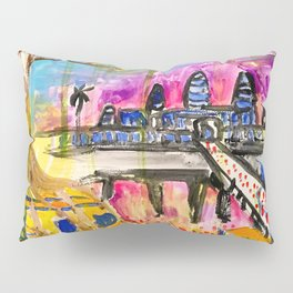 Angkor Wat and Ta Prohm in Cambodia Pillow Sham