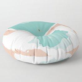 Siwa Oasis Salt Lakes, Egypt Floor Pillow